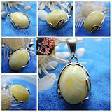 Legend of Amber Baltic Natural Amber Beeswax White Honey Silver Pendant 925 Silver