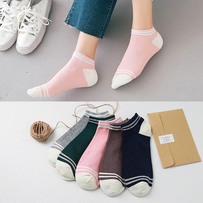 袜子女短袜浅口薄款夏季非纯棉女士隐形袜硅胶防滑韩国可爱船袜女