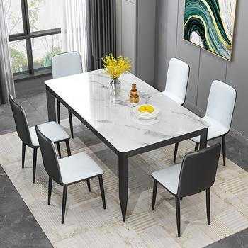 Столы обеденные, обеденные группы,  Обеденный стол домой небольшой квартира современный простой свет экстравагантный столы и стулья сочетание многофункциональный смысл стиль поляк простой прямоугольник есть рис стол, цена 8178 руб