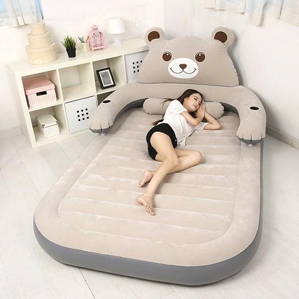 现代简约龙猫床垫榻榻米懒人沙发单双人情侣床垫家用便携充气床卡