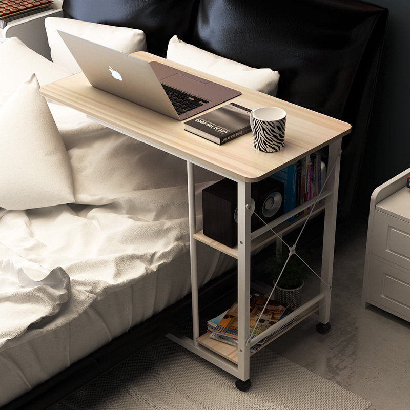 Furniture A Pink Notebook Computer Desk Bed Learning With Household Lifting Folding Mobile Bedside Table Writing Desktop Computer Desk