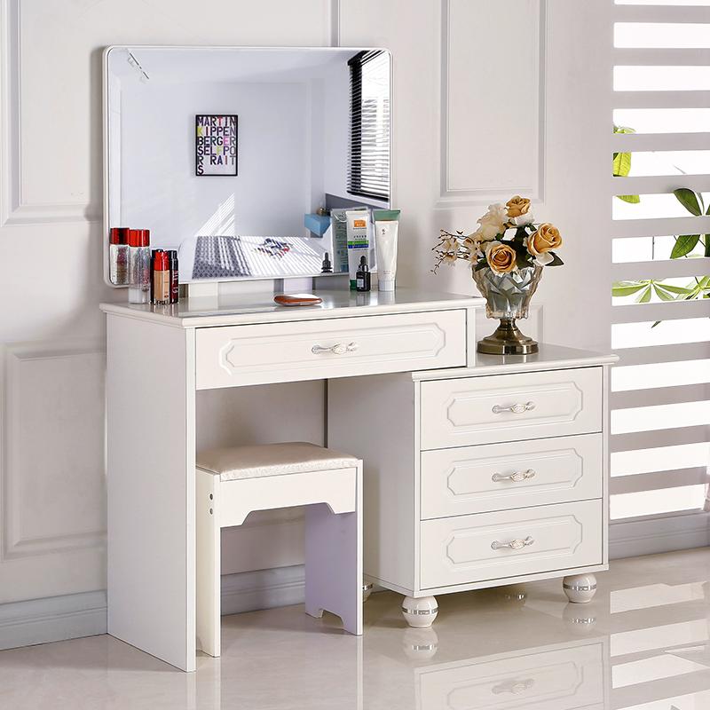 Небольшой квартира мини принцесса составить стол многофункциональный зеркало телескопической туалетный столик простой современный экономического типа комод спальня