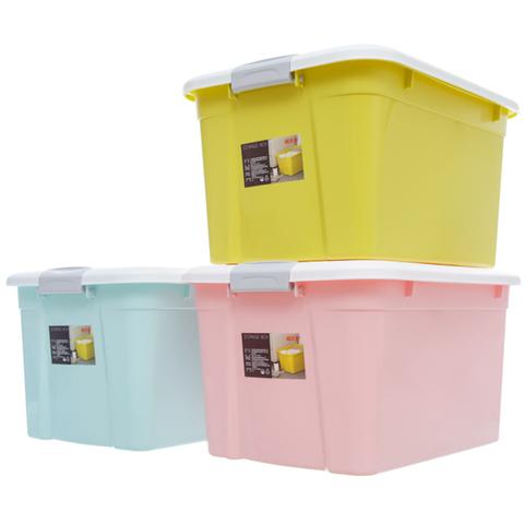 禧天龙收纳箱带盖塑料特大号衣物棉被收纳后备箱储物箱特大三件套