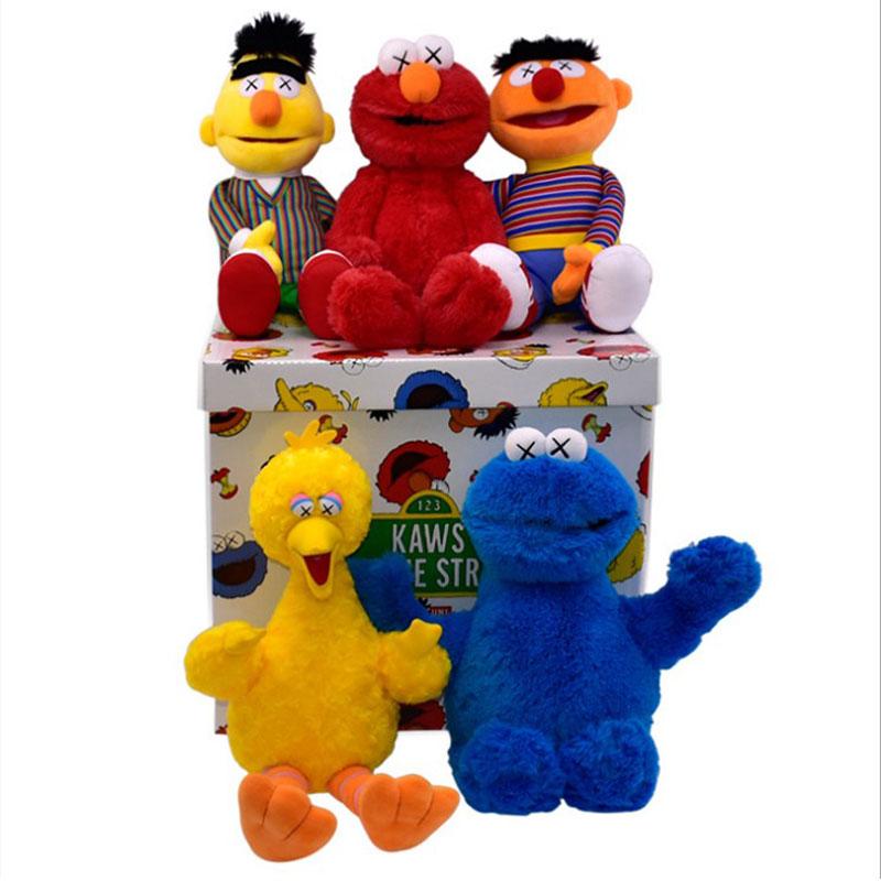 kaws x Sesame Street San Phường chung đồ chơi thứ hai sang trọng Emma Big Bird Cookie Monster Ernie Doll Doll - Đồ chơi mềm