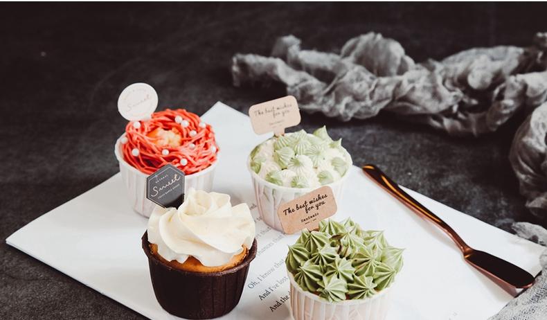 马芬杯包装盒粒装透明盒格格杯子纸杯蛋糕西点盒子烘焙家用详细照片
