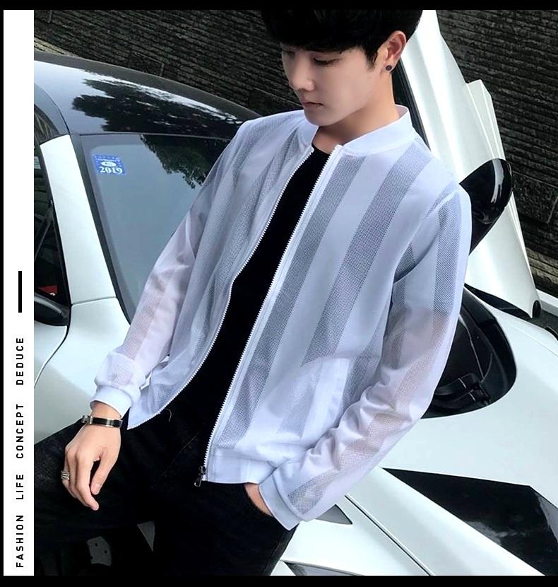 Sun bảo vệ quần áo nam 2018 mùa hè mới Hàn Quốc phiên bản của xu hướng tự trồng mô hình siêu mỏng hoang dã thoáng khí đẹp trai trai áo khoác