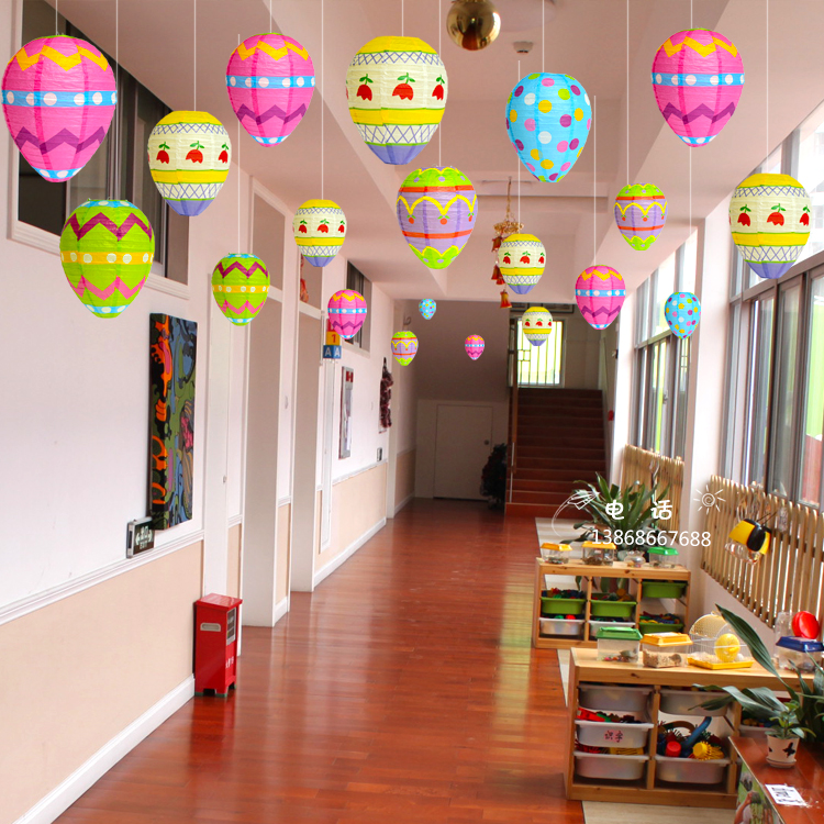 Usd 6 06 Egg Paper Lantern Handmade Ornaments Kindergarten Corridor