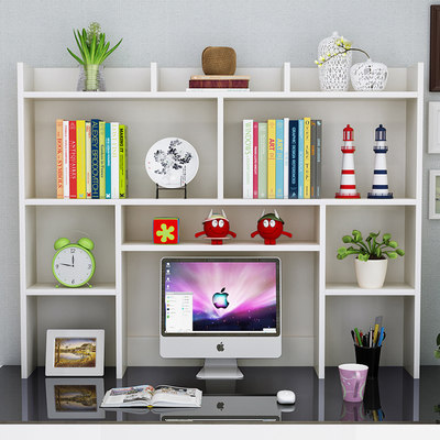 Multi-layer simple table book racks student dormitory storage office bookcase children's desktop computer frame