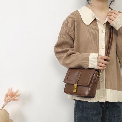 法国小众包包女包新款2019时尚百搭质感单肩包休闲洋气斜挎小方包