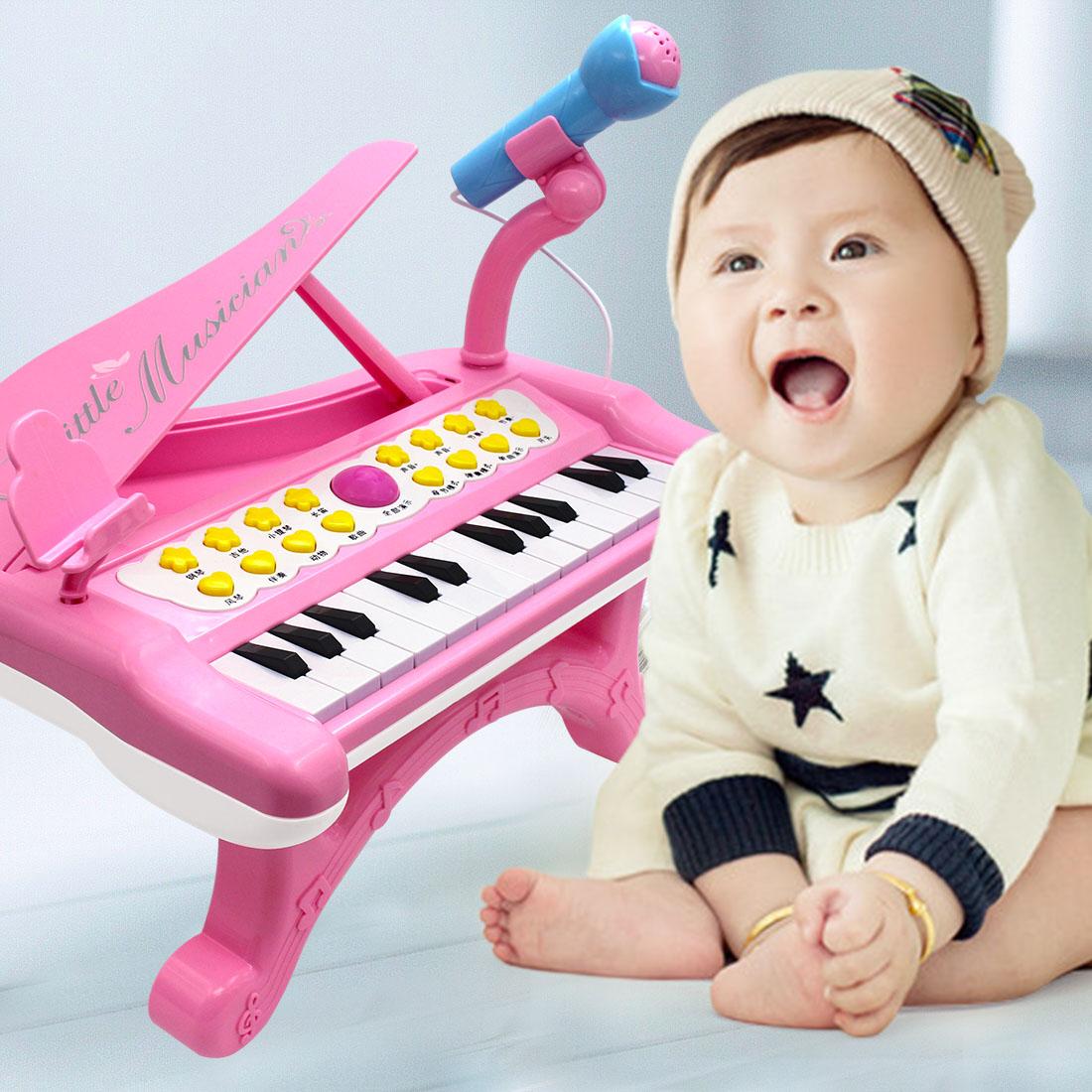多功能电子琴儿童初学幼儿女孩迷你小钢琴玩具可弹奏键1益智0-3岁