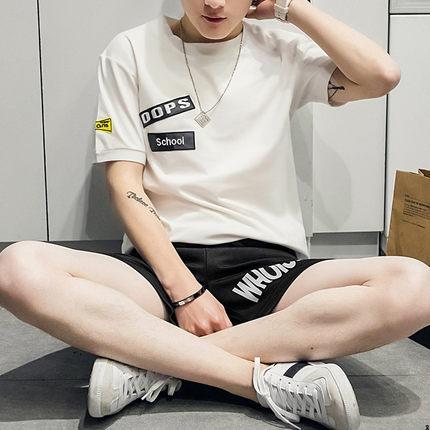 40新款男士短袖T恤体恤夏季圆领学生半袖男装韩版修身上衣服潮