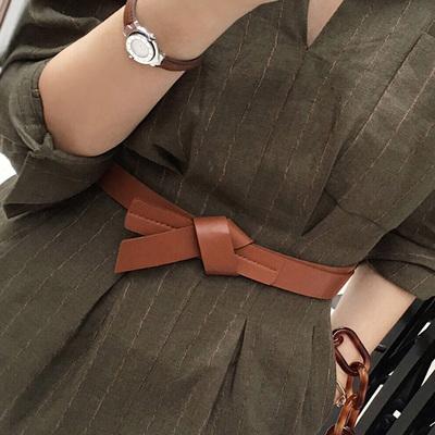 女士腰带装饰大衣连衣裙皮带女