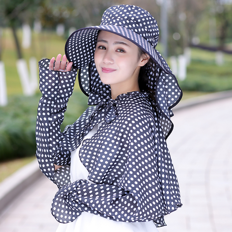 82e3d374720 Sunscreen hat shawl ladies summer big Eaves visor cover face sun hat cap  outdoor cycling UV. Zoom · lightbox moreview · lightbox moreview ...