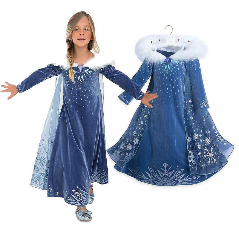 Ледяной роман для маленькой принцессы юбка демисезонный стиль Айша Чжэн версия Аиша Дисней на девочку Эльза платье детские Хэллоуин