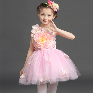 girls princess ballet chorus dresses Children's Dance Costume boys and Girls Chorus dress kindergarten flower princess poncho dress performance dress
