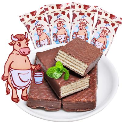俄罗斯【夹心巧克力】威化饼干1斤