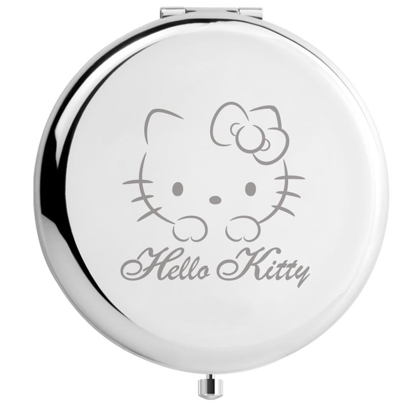 正版Hello Kitty 情人节简约便携化妆镜折叠镜子创意生日礼物女