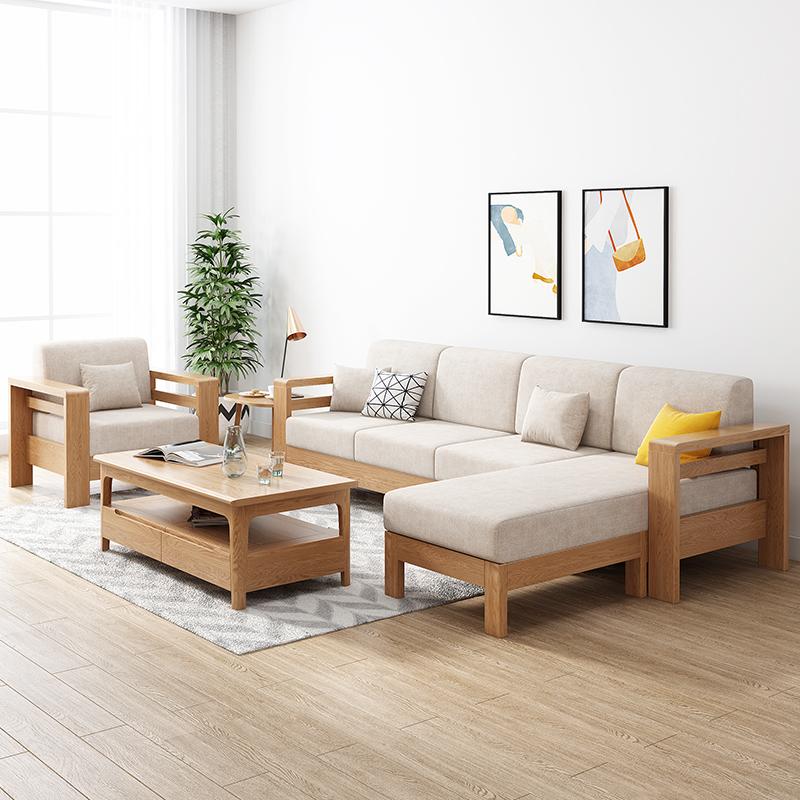 坐在实木沙发上,让你享受生活每一刻幸福