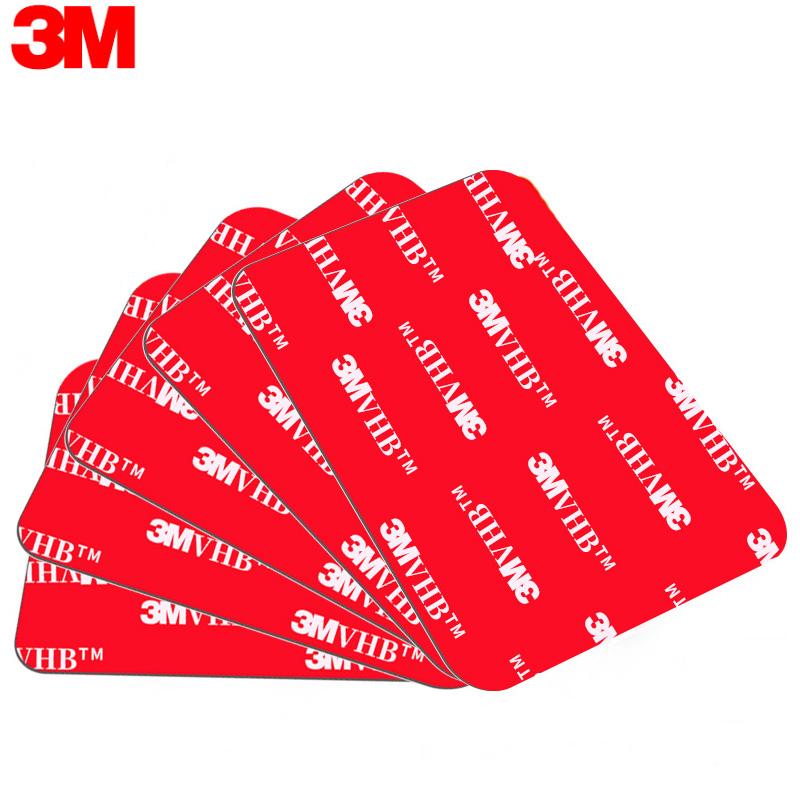 正品3M双面胶强力泡沫海绵墙面固定超薄无痕耐高温汽车etc粘胶贴