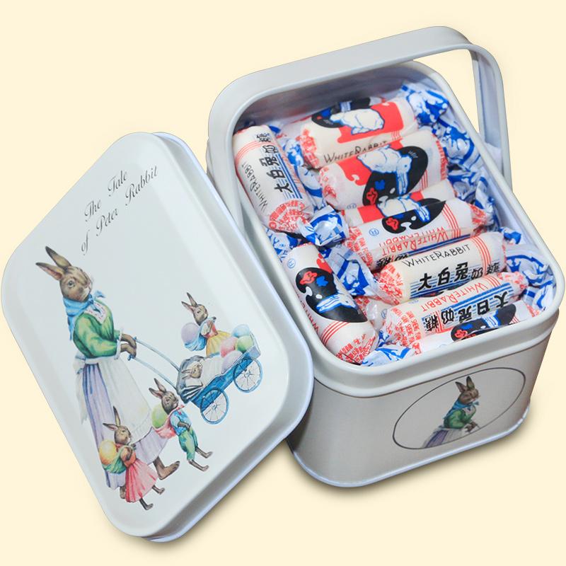 铁盒装冠生园大白兔奶糖生日礼盒