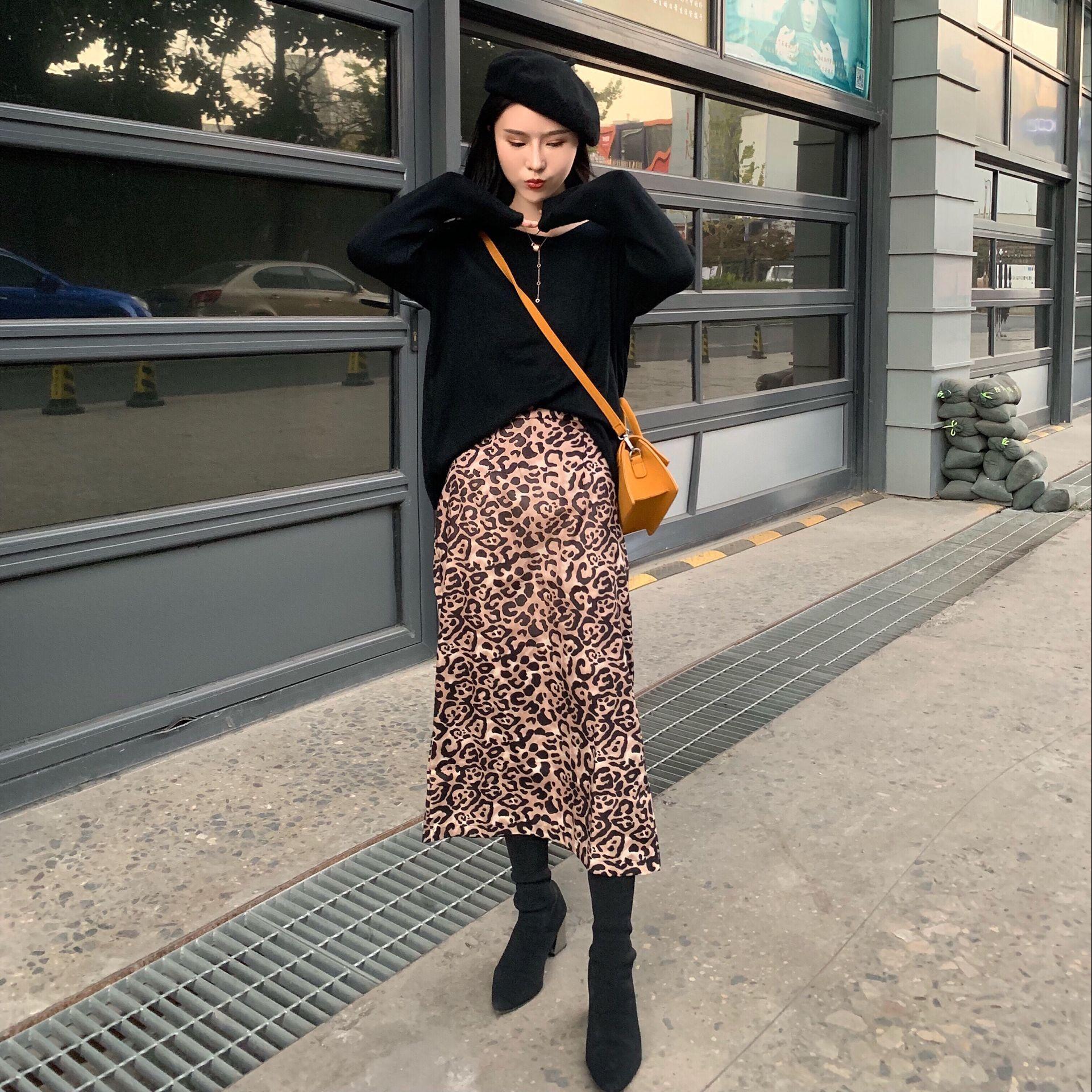 冬装韩版宽松毛衣穿出慵懒美