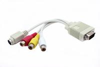 Кабель от компьютера к телевизору VGA к AV частота Линейный VGA к S-line VGA к AV частота Линия преобразования