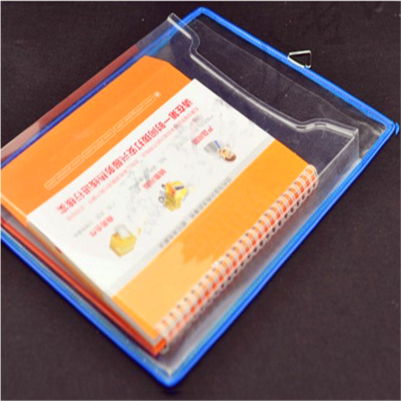 卓联双面可悬挂式透明文件袋资料A4厚式挂袋文件盒收纳办公用品