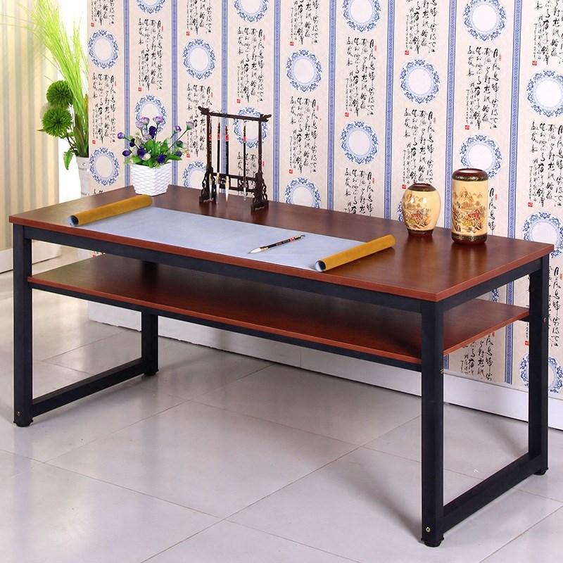 写毛笔字书法的桌子 家用实木书桌简约写字台榆木中式国学马鞍桌