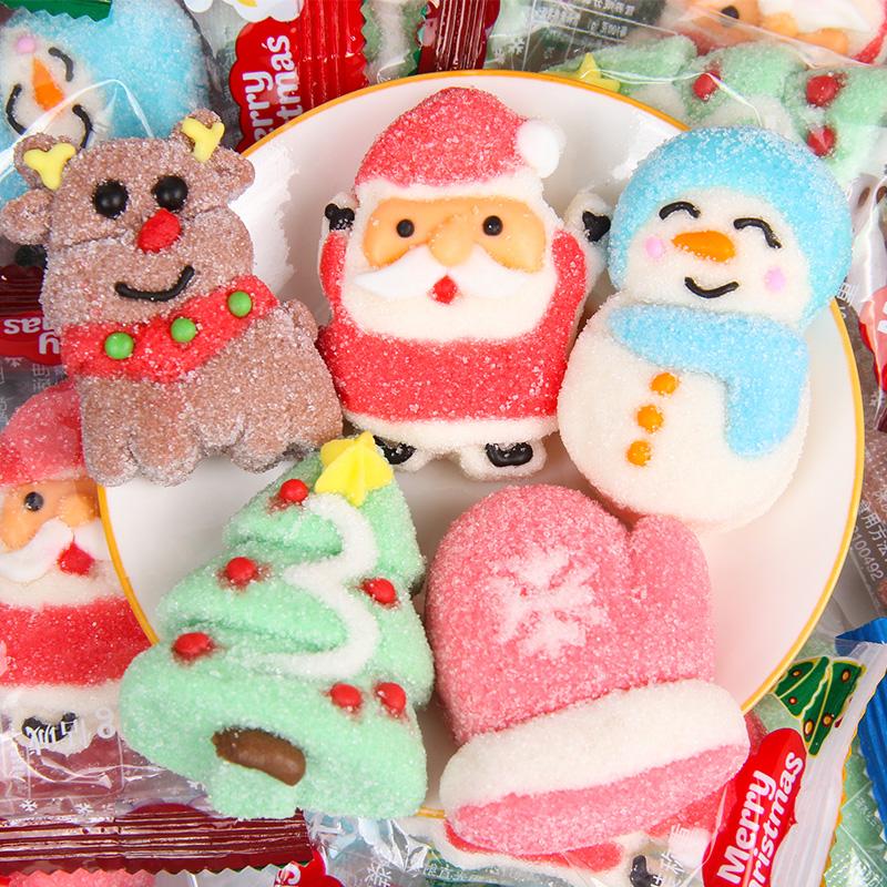 圣诞节糖果创意棉花糖散装搞怪软糖