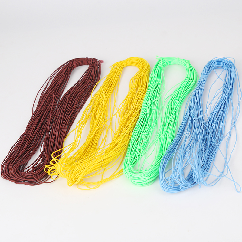 Color round 1mm ultra-fine elastic elastic rope rubber band clothing with  black and white sewing thread Very small elastic band wholesale