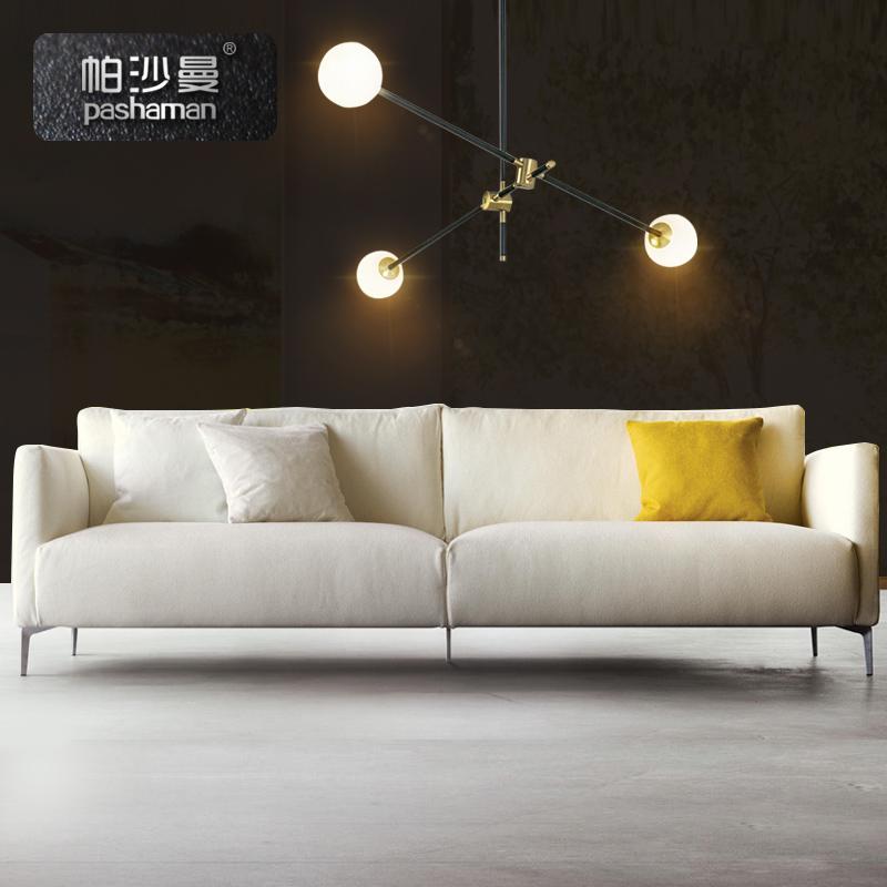 簡約現代北歐乳膠布藝沙發雙人三人四人位小戶型客廳整裝公寓羽絨