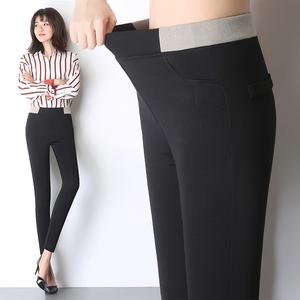秋季新款高腰弹力铅笔裤