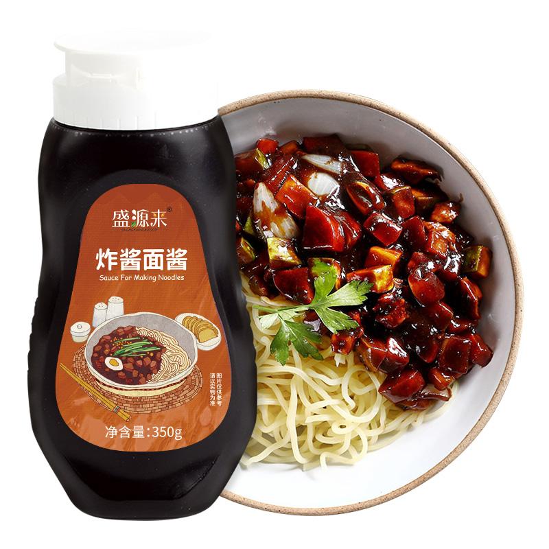 盛源来韩国炸酱面专用酱韩式拌饭酱杂酱面酱干拌面酱熟酱春酱350g