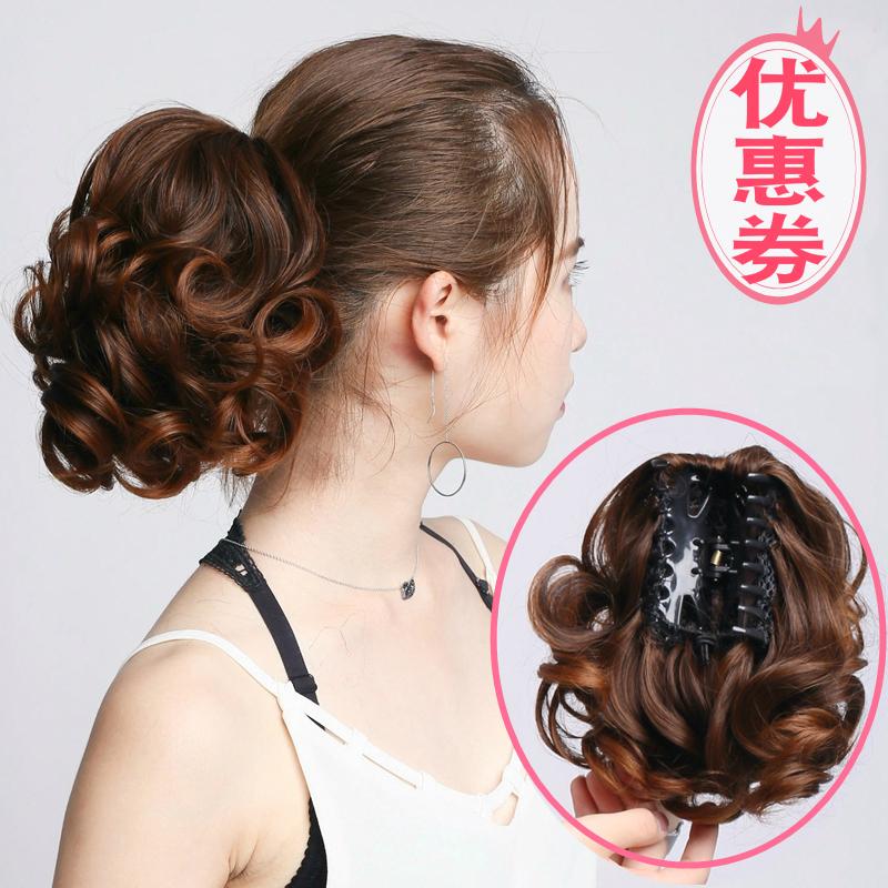 Захватный парик хвост корейская версия Ленивый диск хвост Парик женский естественный реалистичный большой волнистый фигурный короткий конь хвост