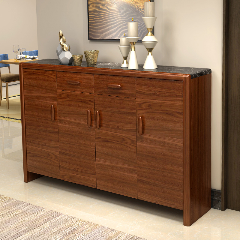 Home door shoe cabinet simple modern Xuan Guanmen cabinet large capacity  balcony locker new Chinese solid wood shoe cabinet