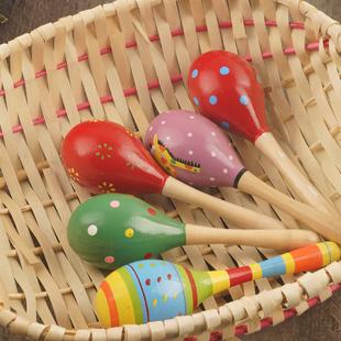 Ребенок музыкальные инструменты песок головоломка игрушка ребенок  0-6 месяцы 6-12 месяцы деревянный погремушка игрушка