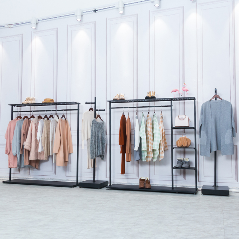 Clothes shelf clothing store display stand floor combination hangers  clothing store shelves European high-end display rack