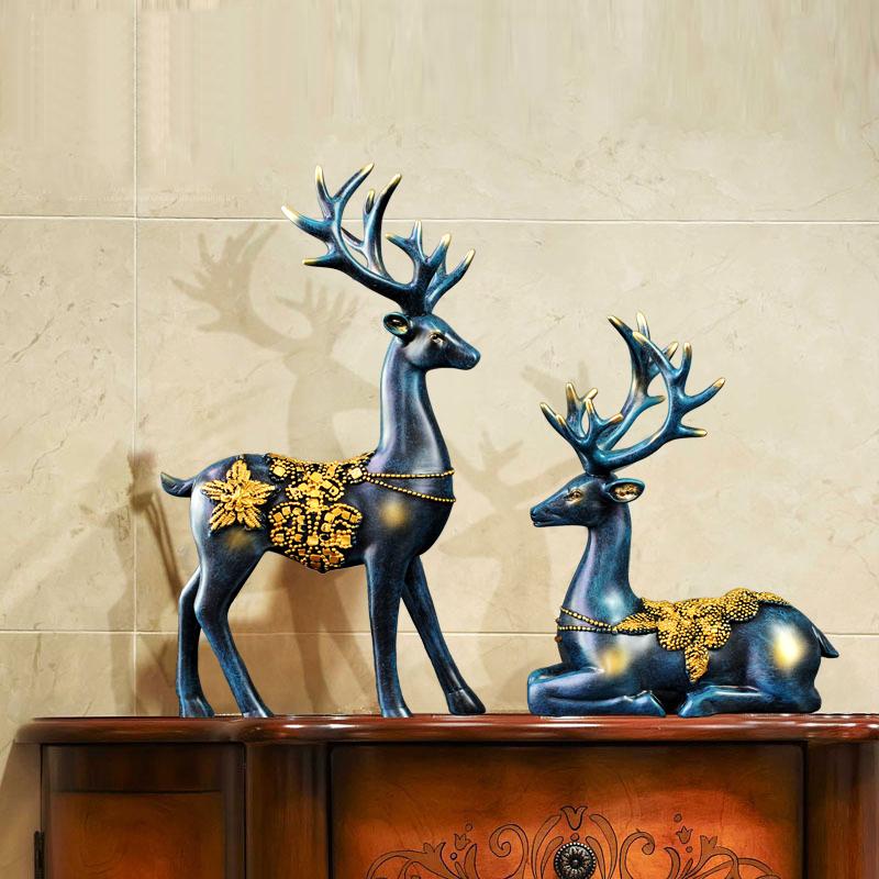 酒柜装饰品摆件现代创意家居客厅电视柜玄关小摆设结婚礼物工艺品