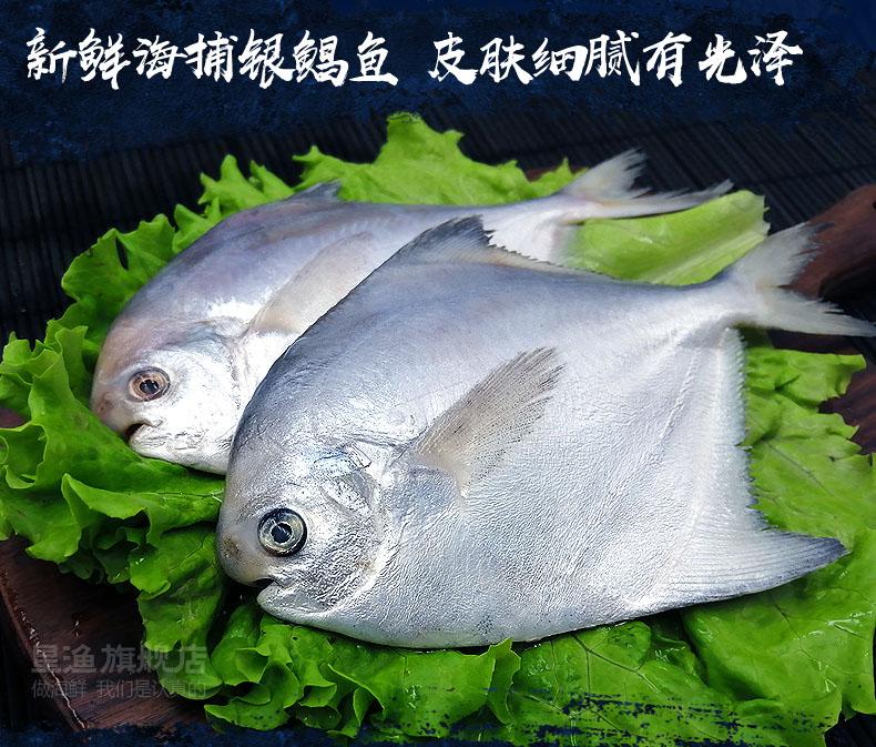 星渔 新鲜海捕鲜冻野生银鲳鱼 净重400g*3件 双重优惠折后¥39.9顺丰包邮(拍3件)