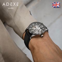 ADEXE英國全自動鏤空機械手表 男士腕表防水夜光dw機械表官方旗艦