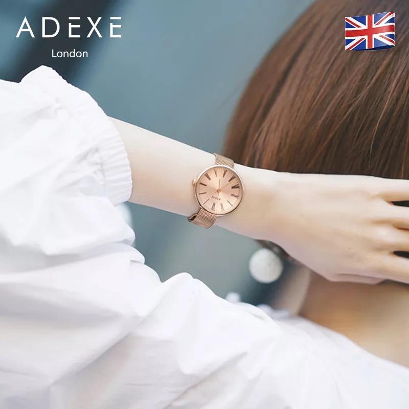 ADEXE 英伦时尚简约超薄石英腕表,送给老婆的生日礼物