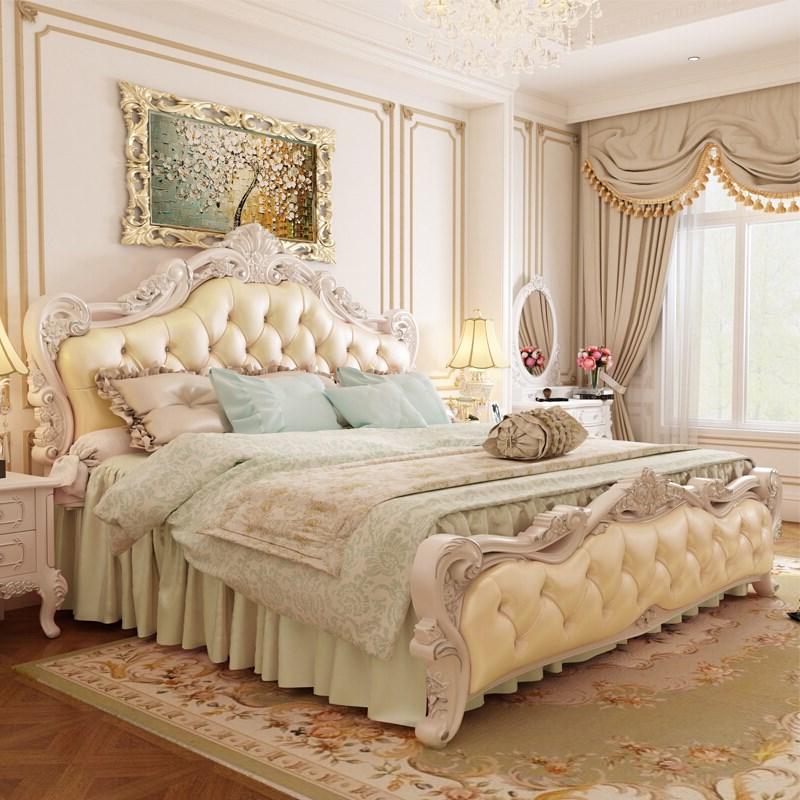 欧式大床a卧室卧室时尚床双人网红床创意贵族婚床高档主