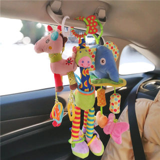 Baby sitting in the car to comfort the car hanging dolls hanging in the car dolls stroller pendant bed hanging 0-1 year old baby car toys