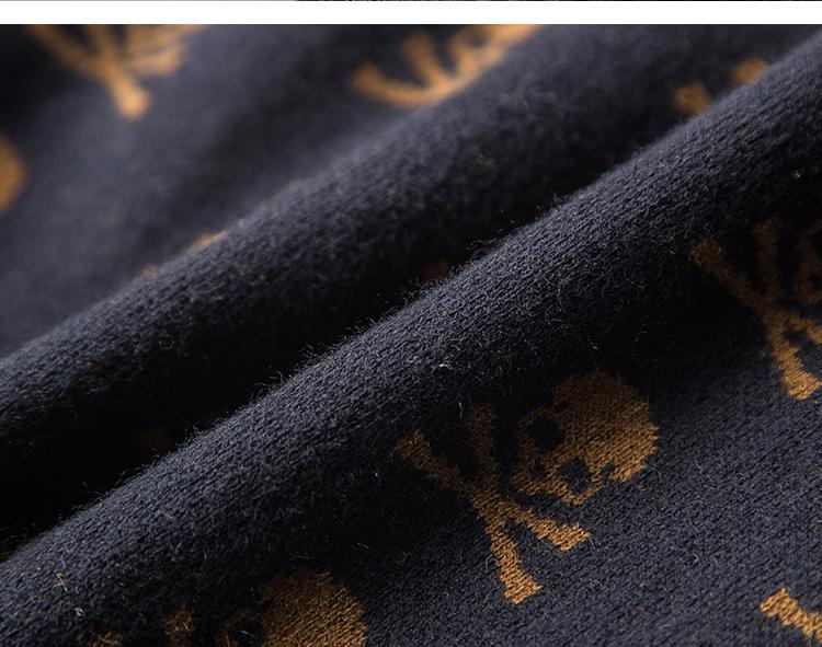 Cows! 100 wool men's winter V collar thick knit sweater business trim fashion skeleton long sleeves 31 Online shopping Bangladesh