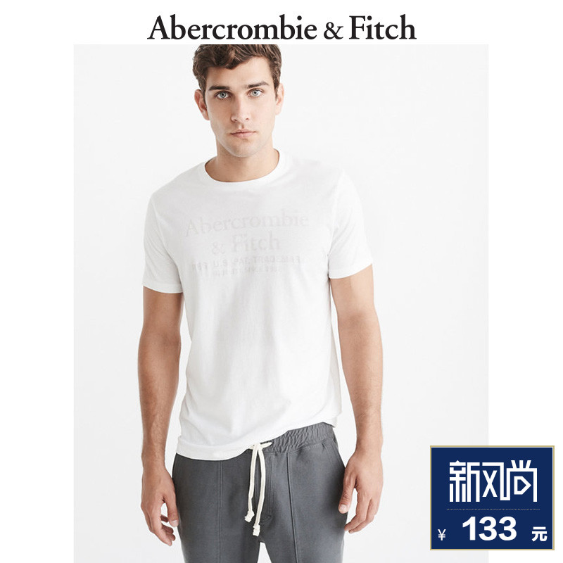 End of Season Special Abercrombie & Fitch Menswear Logo Finishing T-Shirt 179173 AF