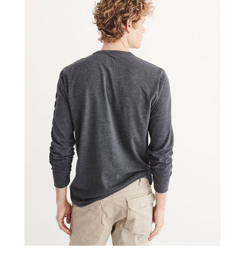 Biểu tượng đặc biệt dành cho nam giới của Abercrombie & Fitch Logo dài tay áo 169865 AF áo thun trơn nam