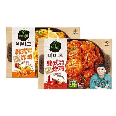 希杰cj必品阁bibigo韩式微波炸鸡4盒油炸懒人小吃半成品