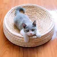 Большие чашеобразные кошачьи царапины панель Большой кошачий помет вязанные Носимые игрушки кошки поставляет ротанг гнездо плетеные кошки чаша коготь коготь кошка ловить поле
