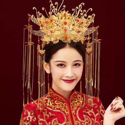 Chinese costume hair accessories Headdress Bride/Fengguan Xiamen Chinese Dress Chinese Style Queen's Hat/Marriage Antique Hair Trim