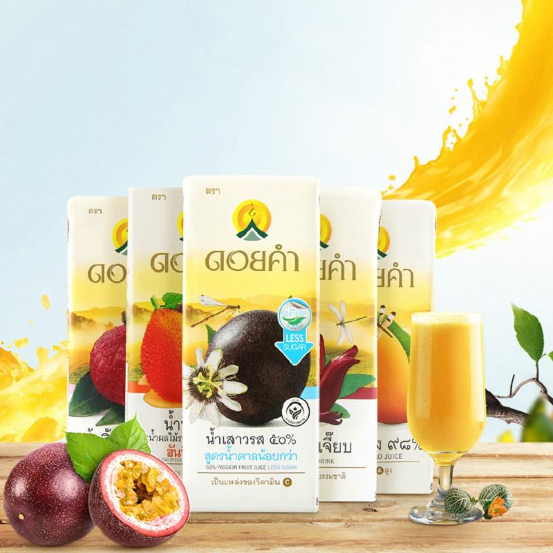 泰国进口NFC果汁饮料200ml*4盒